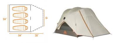 Kelty Parthenon 4 Person Tent Features
