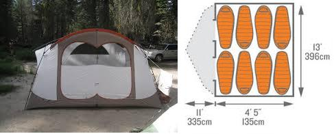 Kelty Parthenon 8 Person Tent Features
